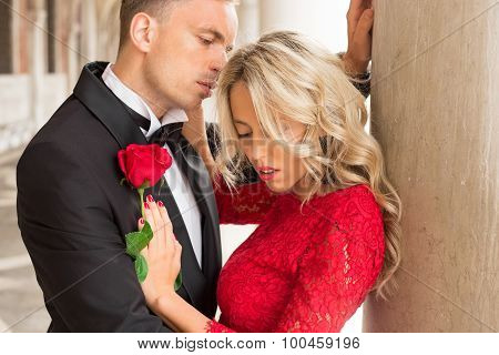 Couple in intimate moment