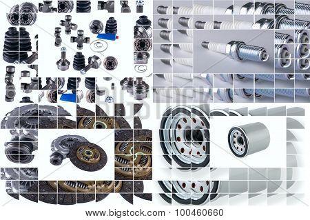 spare parts car shop auto aftermarket shop poster