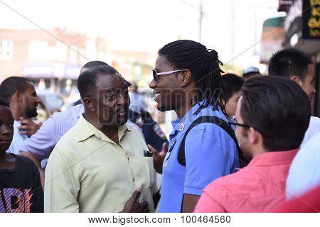 Assemblyman Nick Perry with Jumaane Williams