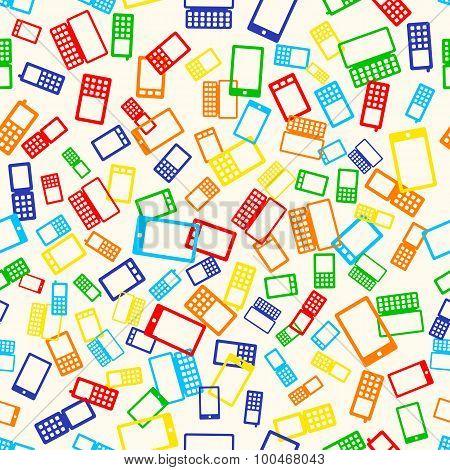 Seamless Pattern Phone