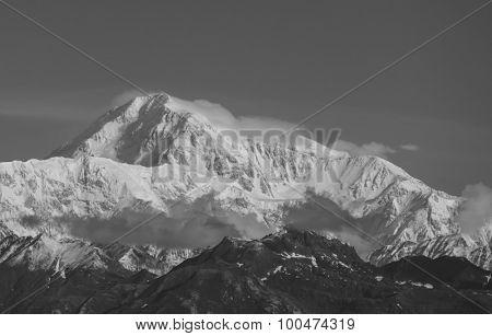 Denali (McKinley) peak in Alaska, USA