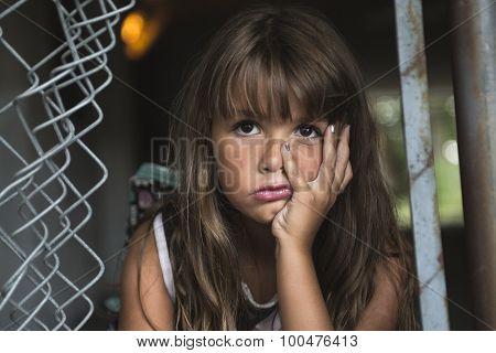 eight years old school girl