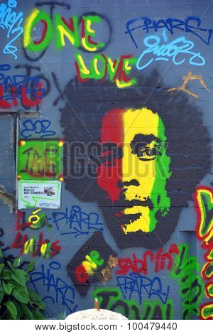 Street art Bob Marley