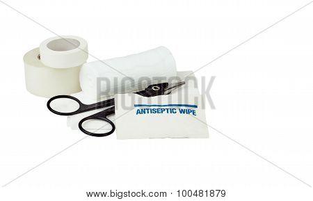 Antiseptic Wipe With Gauze Bandages