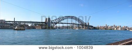 Panoramic View Of Sydney Harbor Bridge