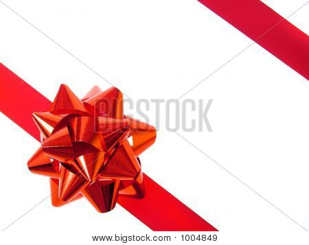 Red Bow And Ribbon
