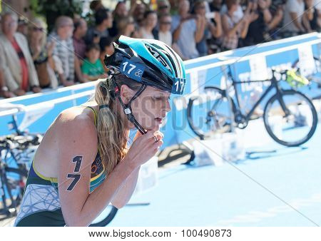 Gillian Sanders (rsa) Putting The Helmet On