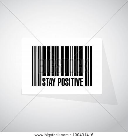 Stay Positive Barcode Sign Illustration