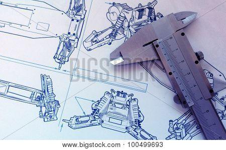 Blueprint and vernier product design