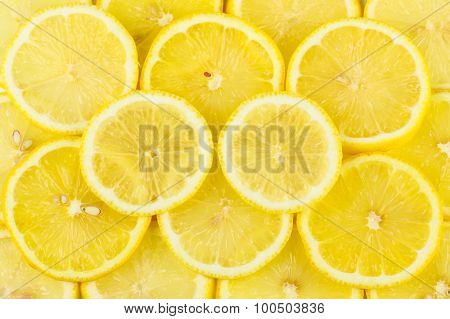 lemon pieces pile together