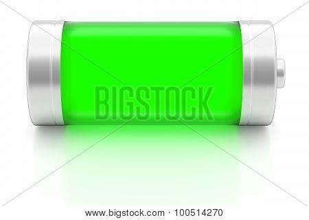 Full Battery On White