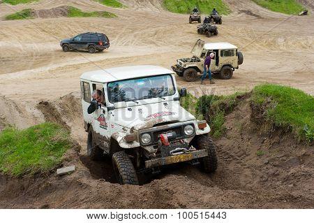 Four Wheel Drive On Muddy Track