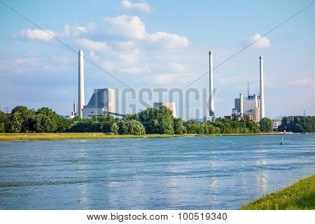 Steam Power Plant And Hard Coal-fired Power Station Rheinhafen-dampfkraftwerk Karlsruhe Enbw
