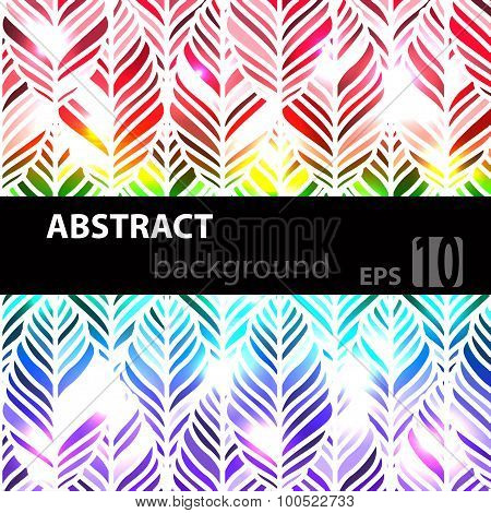 Decorative ornamental seamless spring pattern. Endless elegant texture with leaves. Vector illustrat