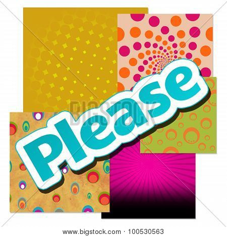 Please text written over abstract colorful background. poster