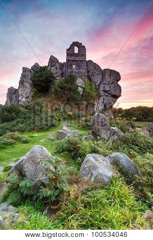 Sunset At Roche Rock