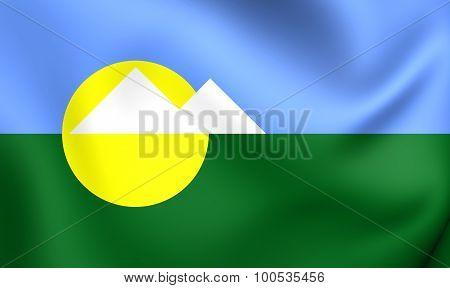 Flag Of Montes Claros City (minas Gerais State), Brazil.