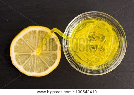 Molecular Fruit Spaghetti With Lemon
