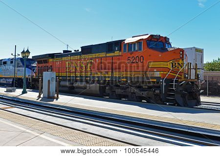 Freight Engine Pulls Amtrak