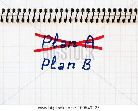 Plan A failed we need plan B