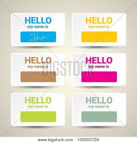 Hello My Name Is... Name Tag Set.
