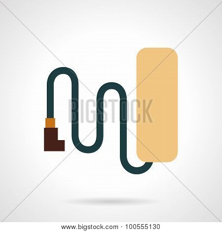 Simple style bike battery flat vector icon