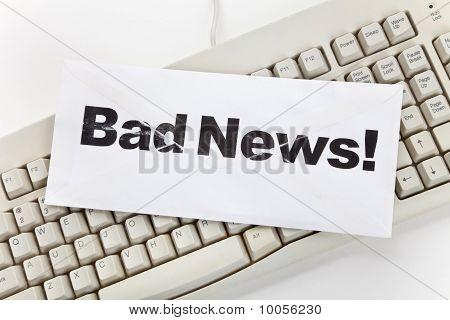 Bad News And Computer Keyboard