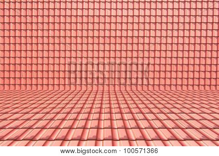 Roof Texture Background Perspective Room