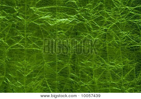 Scaled Crumpled Green Background
