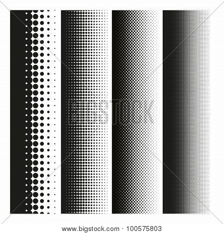 Halftone dot gradient
