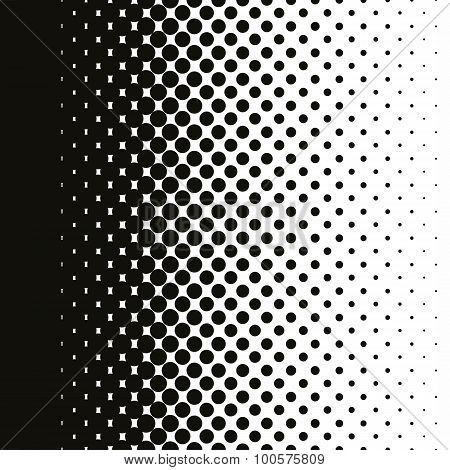 Halftone dot gradient
