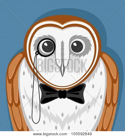 Owl with a pince-nez