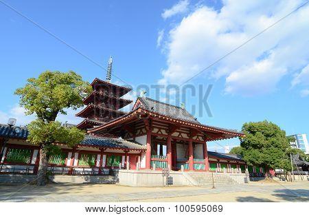 Shitennoji Temple In Osaka, Japan