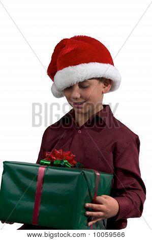 Boy And A Christmas Present