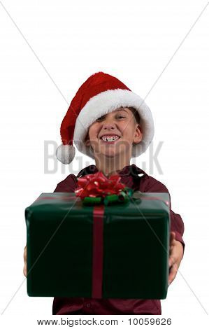 Boy Giving A Gift