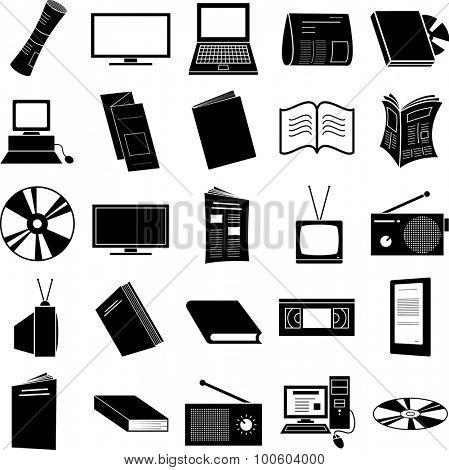 media symbols set