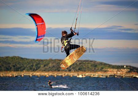 Kite Surfer Air Tricks