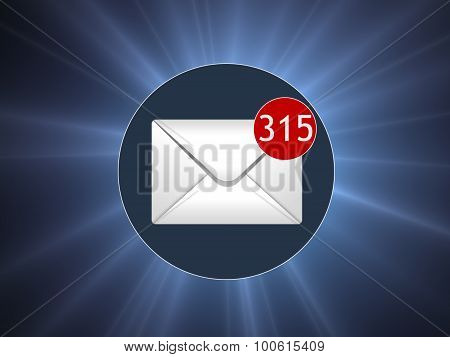 Many letters in the box. Concept SPAM. Many e-mail