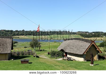 Viking houses in Hobro, Denmark