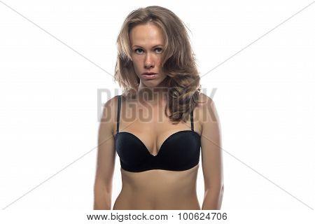Photo of woman looking askance