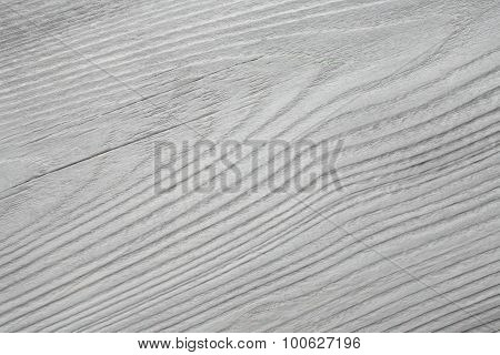 Old, Whitewashed, Wooden Board As A Background