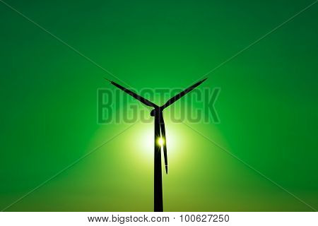 Wind Turbine Power Generator - Green Power Concept