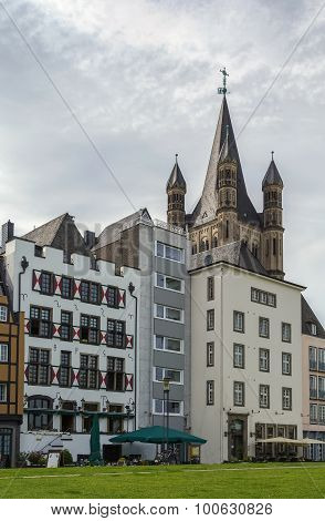 Historic Houses In Cologne,germany