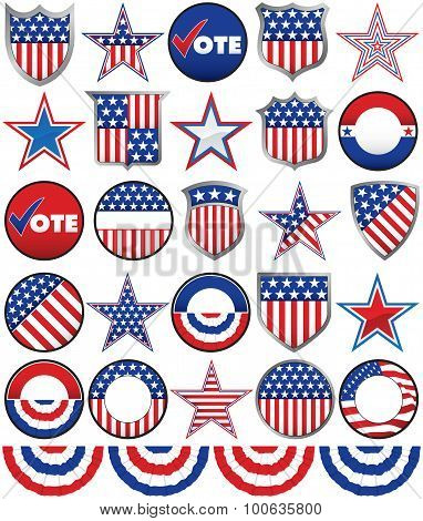 Political Badges