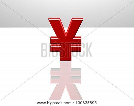 Japanese Yen Sign, 3D Rendering, Global Trade Concept