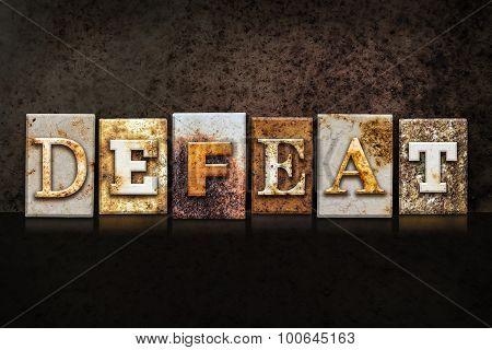 Defeat Letterpress Concept On Dark Background