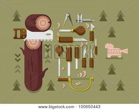 Concept woodcarving