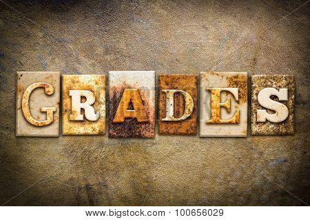 Grades Concept Letterpress Leather Theme
