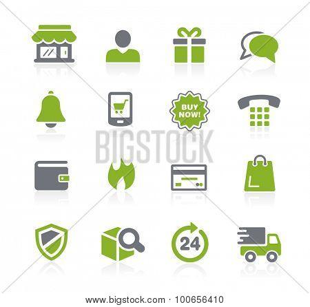 e-Shopping Icons // Natura Series