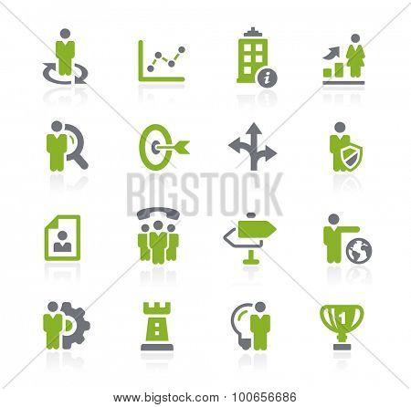 Business Strategies Icons // Natura Series